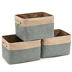 3 Pack Storage Basket Collapsible Sto Rectangular Foldable C