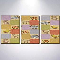 3 Panel Canvas Prints Wall Art for Home Decoration Nursery P