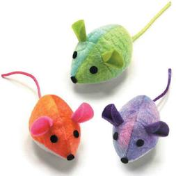 3 PARADISE MICE CAT TOYS Honeysuckle Catnip Plush Round Tie