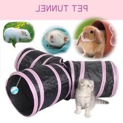3-Way Cat Tunnel Collapsible Pet Toy Ball Puppy and Cat Tunn