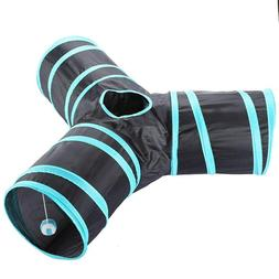 3 way cat tunnel collapsible pet toy
