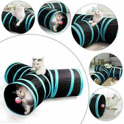 Cat Kitten Tunnel 3 WAY Y Shape Pet Playing Toy Rabbit Folda