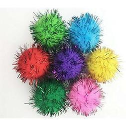 VAPKER 30 Piece Assorted Color Sparkle Balls Cat's Favorite