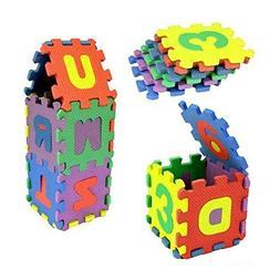 Birdfly 36 A-Z And 0-9 Pcs Soft Foam Mat Toy Jigsaw Puzzle W