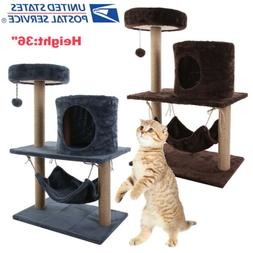 """36"""" Cat Tree Tower Condo Bed Furniture Scratching Post Pet K"""