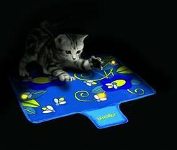 Nighttime Quiet Cat Toy Quiet Glow Firefly Mat Toy by Petsta