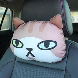 30x25 CM 3D Cat Head Neck Rest Soft Pillow