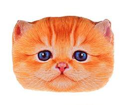 Sumerk 3D Cute Plush Cat Head Shape Pillow Car Sofa Chair Ba