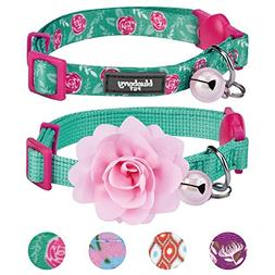 Blueberry Pet 4 Designs Pack of 2 Cat Collars, The Power of