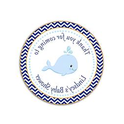 40 Personalized Stickers Whale Under The Sea Nautical Thank