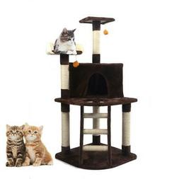 """48"""" Cat Tree Condo Furniture Pet Play House Tower Scratching"""