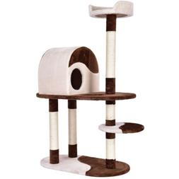 """48"""" Pet Kitten Cat Tree Play House Tower Condo Bed Scratch F"""
