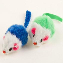 4pc Fur Mice Cat Toys, Soft and Durable for Play Catnip Mice