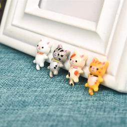 4pcs/Set Cute Sleeping <font><b>Cat</b></font> Resin Crafts