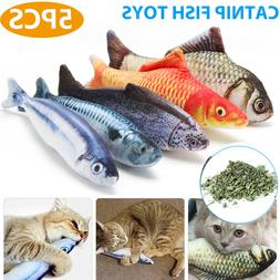 5 Pack Realistic Interactive Fish Cat Kicker Crazy Pet Toy C