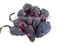 "5 Zanies Rabbit Fur Gray Mice Cat Toys, 3"" L"