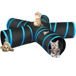 PAWABOO 5 Way Tunnels Extensible Collapsible Cat Playing Tub
