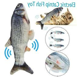 USB Floppy Moving Fish Cat Toy Realistic Interactive Dancing
