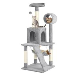"""51"""" Pet Cat Tree Play Tower Bed Furniture Scratch Post Tunne"""