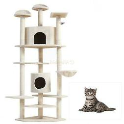 "52""/60""/36""/80"" Cat Tree Play House Tower Condo Furniture Sc"