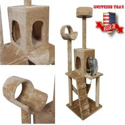 52'' Cat Tree Pet Condo Post House Furniture Toys Scratcher