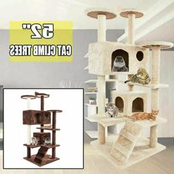 """52"""" Cat Tree Tower Condo Furniture Scratching Pet Kitty Play"""