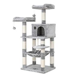 "FEANDREA SONGMICS 58"" Multi-Level Cat Tree with Sisal-Cove"