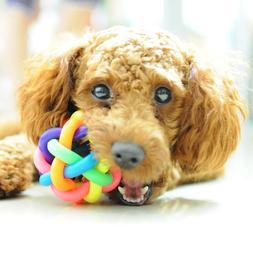 5cm Colorful Rainbow Pet Bell Ball Dog <font><b>Toy</b></fon