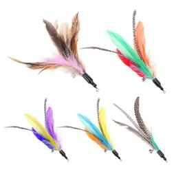 5pcs lot colorful cat toys feather replacement