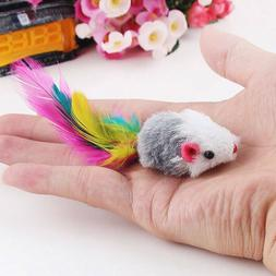 5pcs Pet Products Supplies Pet Cat Toys Plush Mouse With Fea