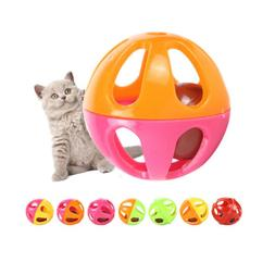 5pcs plastic pet toy small bell cat toy hollow out balls cat
