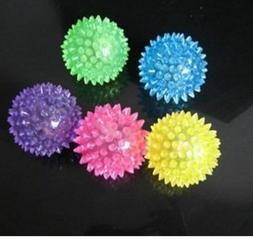6 PACK Light-Up Spinny Balls Dog / Cat LED Flashing Sensory