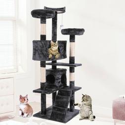 "60"" Cat Tree Condo Furniture Scratching Post Kitten Pet Play"