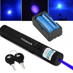 200Miles 405nm Blue Purple Laser Pointer Pen Visible Beam La