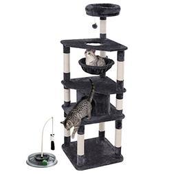 "SONGMICS 66"" Multi-Level Cat Tree with Cat Toys  Sisal-Cov"