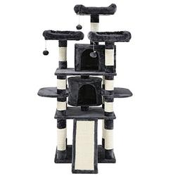 """SONGMICS 67"""" Multi-Level Cat Tree with Sisal-Covered Scratch"""