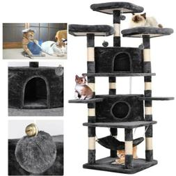 """75""""Cat Tree Tower Condo Home Scratching Post Sisal Kitty Cli"""