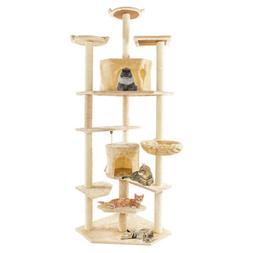 "80"" Cat Tree Condo Furniture Scratching Post Pet Cat Kitten"
