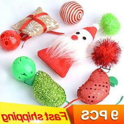 9 pack Christmas Cat Toys Variety Pack  Mice Animal Cat Toys