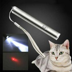 900Miles 2in1 Red Laser Pointer Pen with LED Flashlight AA L