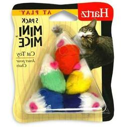 Hartz 95986 At Play Mini Mice Cat Toy 5 Count Assorted Color