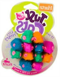 Hartz 98059 Kitty Frenzy Mice Pack Assorted Colors 12 Count