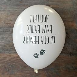 ANGEL & DOVE 10 Pet Remembrance Balloons 'You left paw print