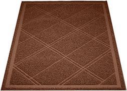 """AmazonBasics Cat Litter Mat, 24"""" x 35"""", Brown"""