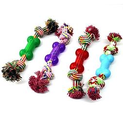 BECKY,1/2/3 pcs 11.81.9''Chew Rope with Rubber Bone Toys for