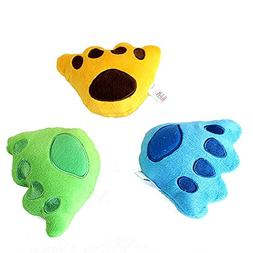 BECKY,2/3/5 pcs Lovely Paws Design Pet Toy Squeaky Dog Toy P