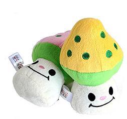 BECKY,2/3/5 pcs Vivid Lovely Mushroom Design Pet Toy Squeaky
