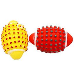 BECKY,3/5 Pcs 5.13.3'' Mavel Toy Dog Training Toy,Red Yellow
