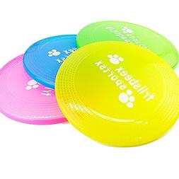 BECKY,3/5 Pcs 9''Dog Training Fetch Toy Rubber Flyer Frisbee