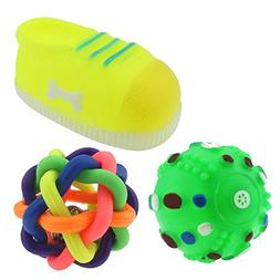 BECKY,Rubber Pet Dog Squeeze Squeak Toy Chew and Fetch,Toss,